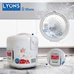 AILYONS/LYONS RCX-18B01  1.8L 700W Electric Rice Cooker Automatic Cooking & Warming Function White