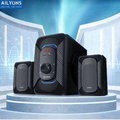 AILYONS ELP2507 2.1CH Multimedia Speaker System 18000 P.M.P.O Output Power 20W+5W×2 Black AC220V-240V~50/60Hz,DC12V ELP2507