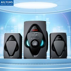 AILYONS ELP2513 Multimedia Speaker With Powerful Amplifier 7000 PMPO Output Power 20W+5W×2 Black AC220V-240V(50/60Hz) ELP2513