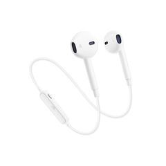 S6 Wireless Bluetooth Car Sports Universal Headset white