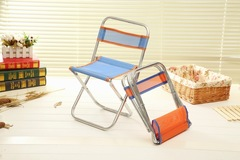 Outdoor Foldable Chair Ultra Light Weight Portable Folding Camping mini  stool sent in random color 30x24x47cm