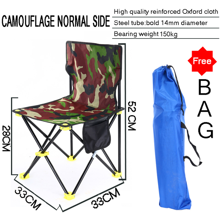 Outstanding High Quality Outdoor Folding Chair Folding Portable Camping Chair Oxford Bench Stool With Bag Camouflage Chair Normal Inzonedesignstudio Interior Chair Design Inzonedesignstudiocom