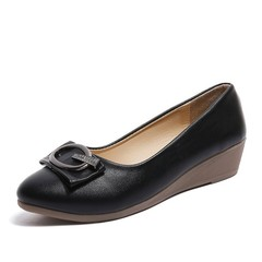 Daily Round Toes Wedge Women Wedges Shoes Black 4664