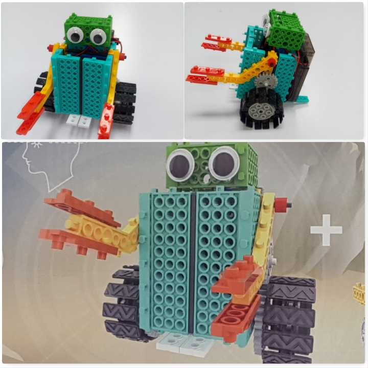 2 in 1 Educational Remote Controlled Robot Block Toy Multicolour S