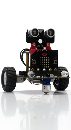 Smart Robot toy (Micro:bit powered) Black and red 0.85