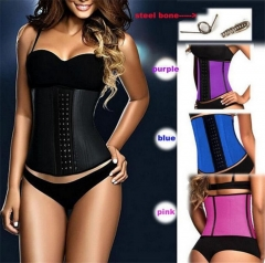 Slimming corset waist trainer firm control waist corset body shaper blue xl