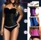 Slimming corset waist trainer firm control waist corset body shaper blue xl