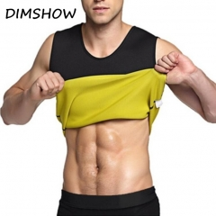 Mens Neoprene Sauna Shapewear Compression Slimming Waist Trainer Shirt Sweat Fat Burner Body Shapers black s
