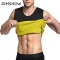Mens Neoprene Sauna Shapewear Compression Slimming Waist Trainer Shirt Sweat Fat Burner Body Shapers black s