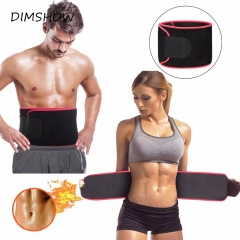 Neoprene Waist Belt Sweat Premium Waist Trainer Trimmer Belt Body Shaper Hot Shapers Waist Cincher black Free size