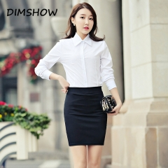 High stretch Pencil Skirts Women Plus Size Open Slit Elegant Ladies Office Skirt black s