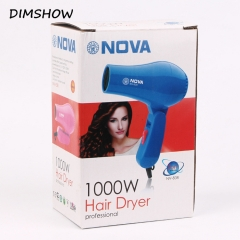 1000W Mini hair dryer Hot and Cold Wind Traveller Hair Dryer Blower Blue one size