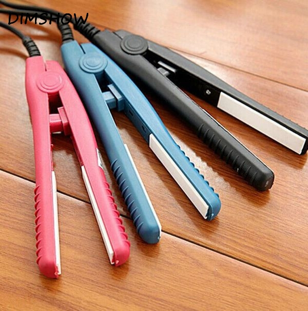 Mini Ceramic Straightener Flat Iron Curling Irons Styling Tools blue one size