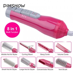 Professional Styling Tools Electric Hair Curler Dryer Roller 8-in-1 Multi function Hairdryer set Random(red/white) one size