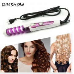 Magic Pro Hair Curlers Electric Curl Ceramic Spiral Hair Curling Iron Wand Salon Hair Styling Tool random color one size