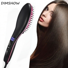 lcd digital display electric straightening hair Comb flat Iron hair care comb black one size