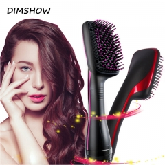 Professional Hair Curls Comb Multi Function Electric Hair Blow Dryer Brush Hot Air Hair Dryer Brush black one size