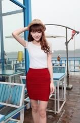 2018 New Fashion Casual Summer Women Skirts Slim High Waist Short Skirt Female Office Skirts free size white