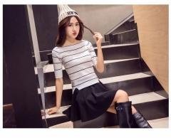 M-5XL Plus Size Shorts Skirts Women's Solid Mini Pleated Skirt Fashion High Waist Casual Wear black m