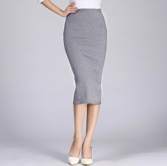 Long Pencil Skirts Women Sexy Slim Package Hip Maxi Skirt Lady office lady skirts light grey free size