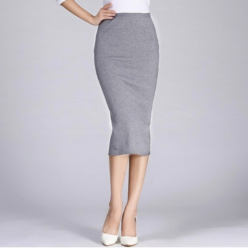 f9a507e9cf Long Pencil Skirts Women Sexy Slim Package Hip Maxi Skirt Lady office lady  skirts light grey