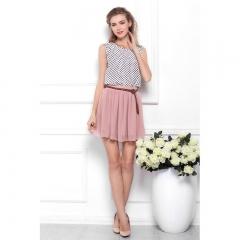 New 2018 Casual Summer Style Women Chiffon Pleated Sexy Skirt Short Skirt for Women High Waist Skirt light grey free size