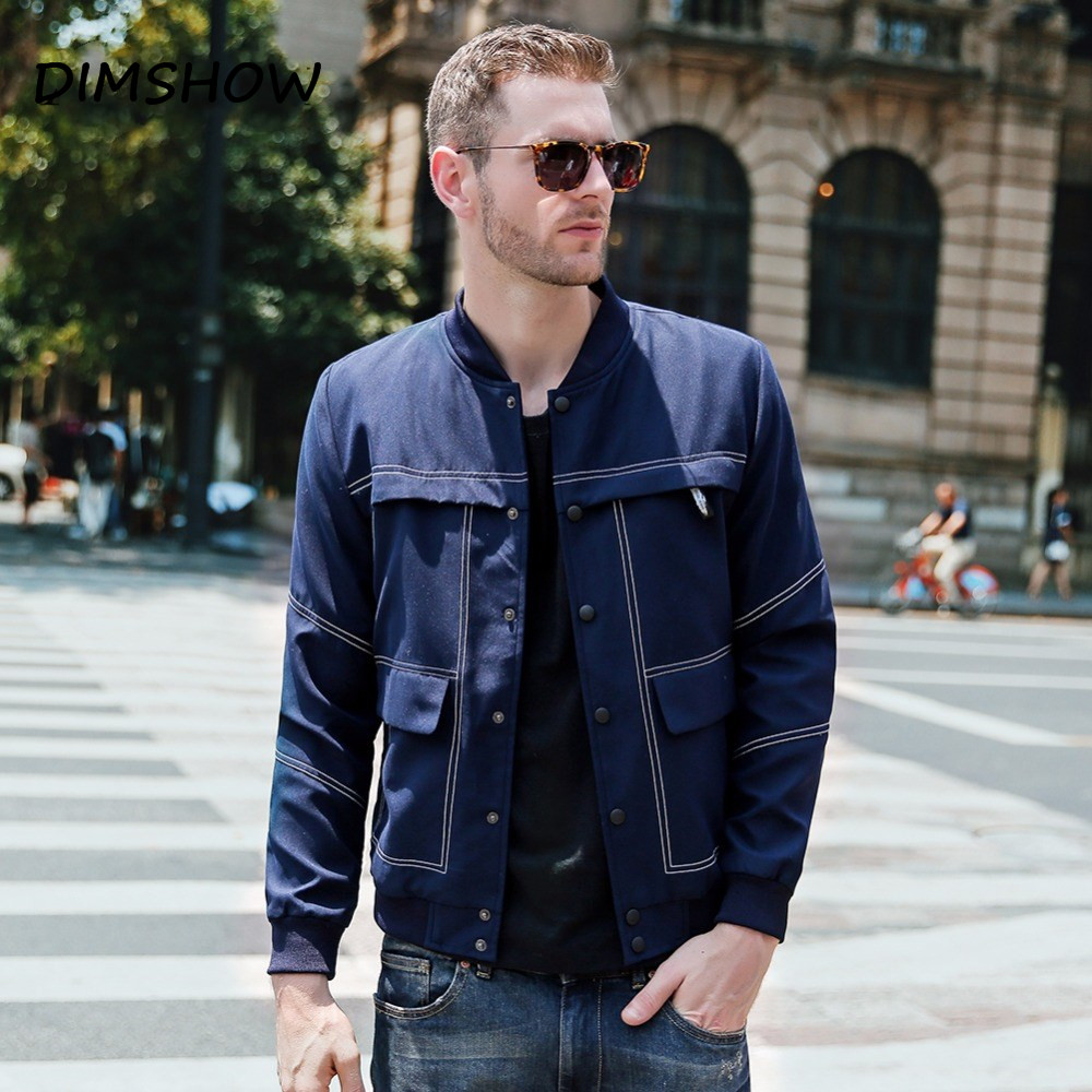 2018 Spring Autumn Men Cargo Jackets More Pockets Cool Boy Bomber