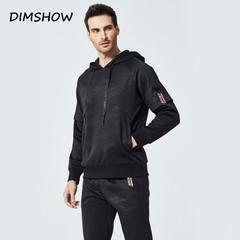2018 Men's Hooded Set Fashion New Men Sportswear 2 Piece Sporting Suit Hoodies+Pant Sweatsuit Men black s