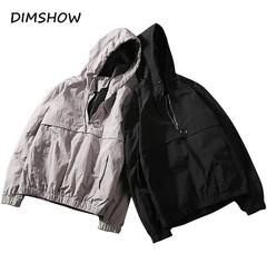 Autumn Wind Breaker Men Jacket 2018 Sportswear Fashion Thin Windbreaker Jacket Zipper Coats Hip Hop black m