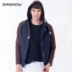 Brand Clothing Jackets and Coats Famous Jacket Fashion Clothes Bomber Jacket Spring Overcoat 2018 deep blue m