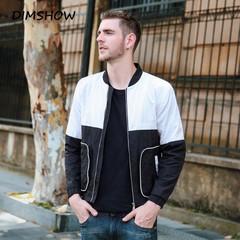 2018 Autumn Casual Slim Fit Mens Hip Hop Jacket Sportswear Bomber Jacket Men's Patchwork Overcoat black m