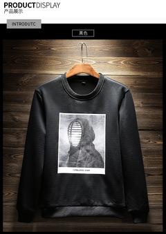 New Autumn Winter Fashion Men Hoodies Casual Cotton Thicken Fleece O-neck Male Tracksuit Mens 2018 black m