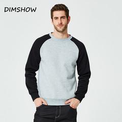 Fleece Patchwork Sweatshirts Men Thicken Tracksuit Chandal Hombre Mens Casual Hip Hop  Streetwear light grey s