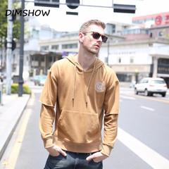 100% Cotton Hoodies Men 2018 New Autumn Fleece Mens Warm Sweatshirt Brand Streetwear Solid Pullover khaki s