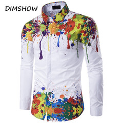 New Arrival Spring Autumn Features Shirts Men Casual 3D Shirt Long Sleeve Casual Slim Fit Shirts as picture m