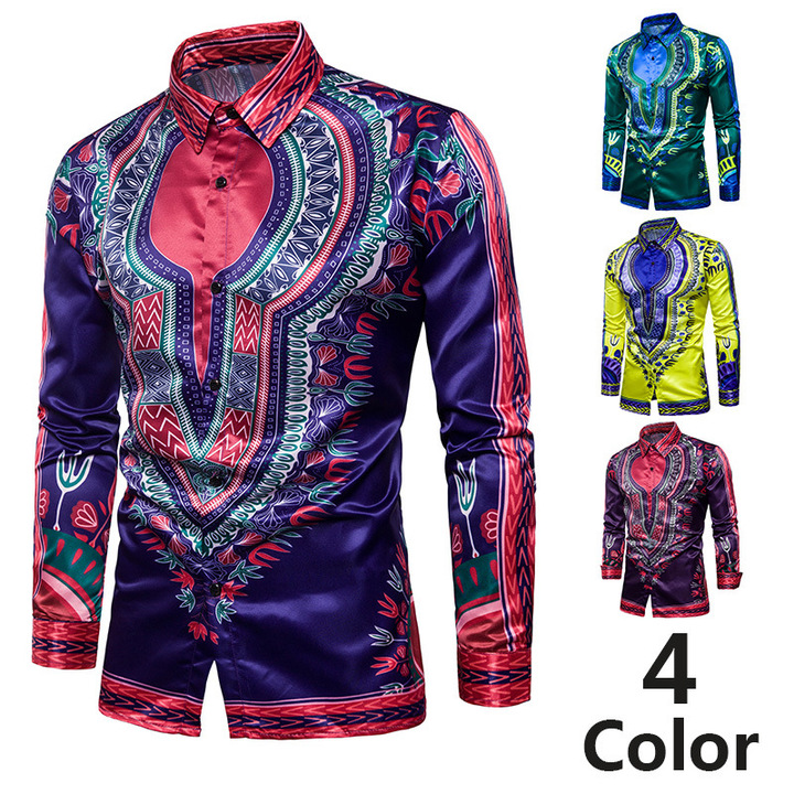 ffa3c744e77 2018 spring summer new men s fashion long-sleeved shirt mercerized cotton  color fashion Thailand navy