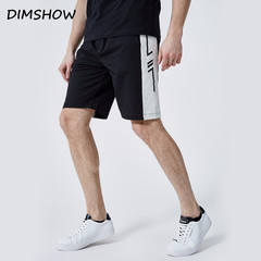 2018 Summer Casual Patchwork Shorts Mens Bermuda Elastic Waist Drawstring Cotton Slim Fit Brand Gyms black s