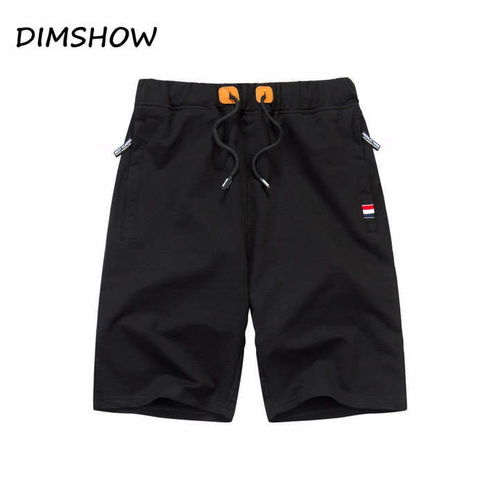 eff24856792c Cotton Men Shorts Summer Beach Slim Fit Bermuda Breathable Joggers Trousers  Elastic Waist Casual black s