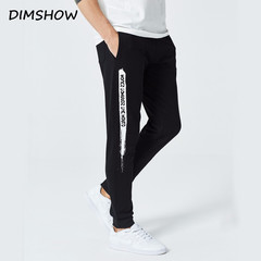 2018 New Men Jogger Pants Leggings Fitness Sweatpants Workout Spring Summer Sporting Fitness black s