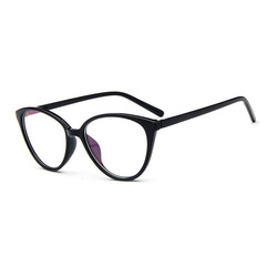Vintage Cat Eye Glasses Frame  Fashion Classic Frame Mirror Female Brand Designer Optical Eyeglasses 2 one size