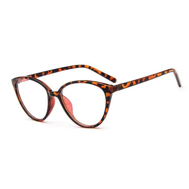 Vintage Cat Eye Glasses Frame  Fashion Classic Frame Mirror Female Brand Designer Optical Eyeglasses 4 one size