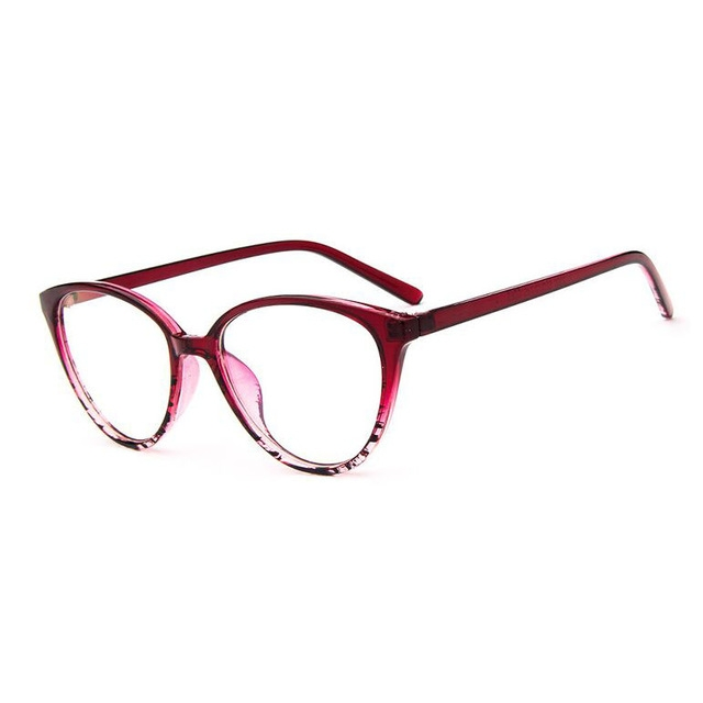 Vintage Cat Eye Glasses Frame  Fashion Classic Frame Mirror Female Brand Designer Optical Eyeglasses 6 one size