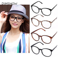 Women Vintage Glasses Frame Plain Mirror Harajuku Round Optical Frame Girl Eyeglass Clear as picture one size