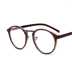 Hot Sale Fake Round Glasses Women Clear Eyeglasses Frame Pink Transparent Frames Reading Glasses 3 one size