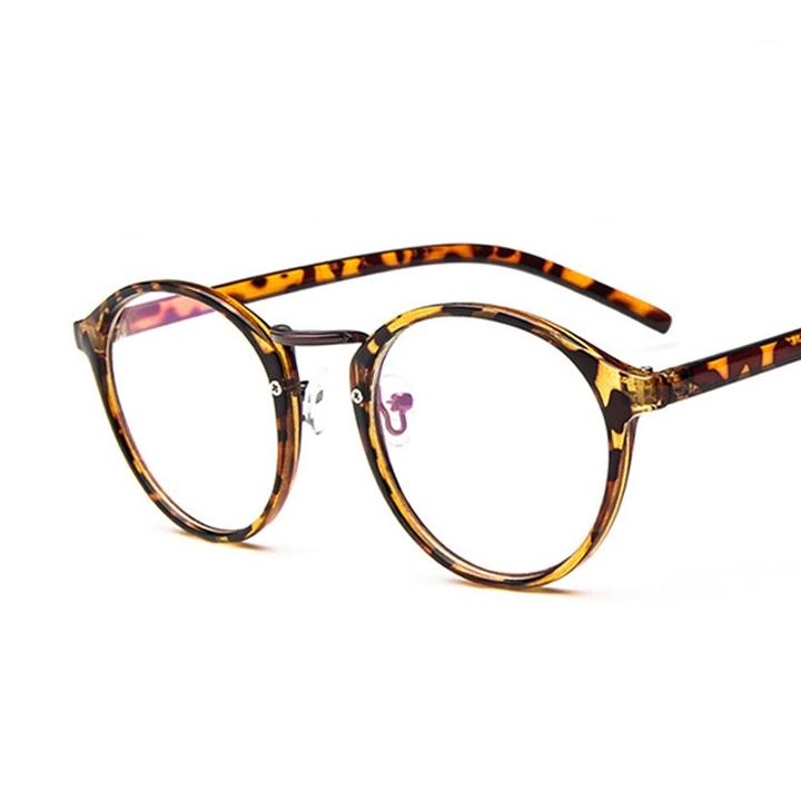 Hot Sale Fake Round Glasses Women Clear Eyeglasses Frame Pink Transparent Frames Reading Glasses 4 one size