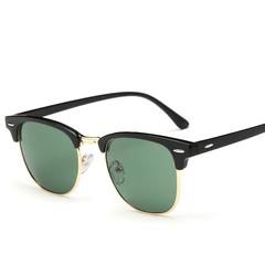 Top Classic Men women Rayban Hot sunglasses black+green one size