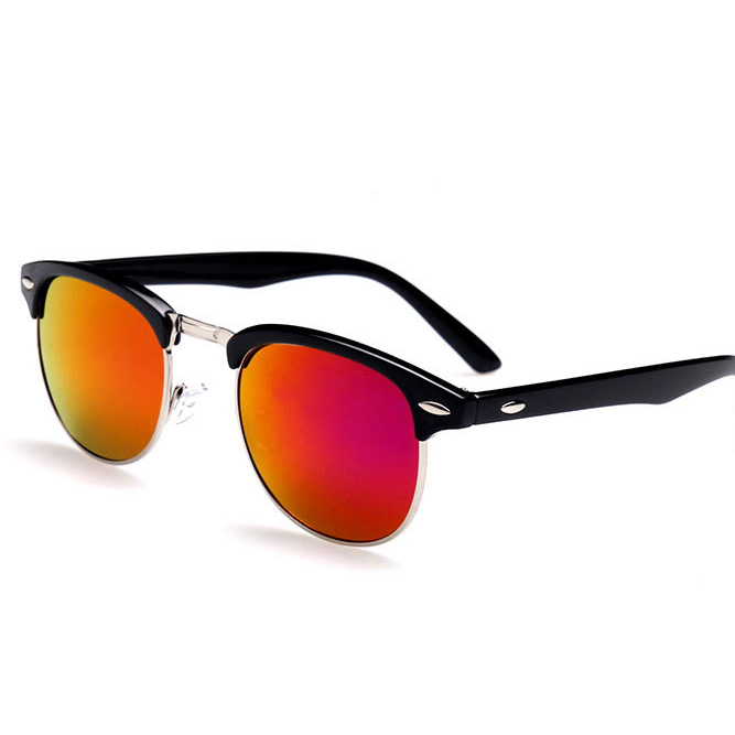 Top Classic Men women Rayban Hot sunglasses black+red one size