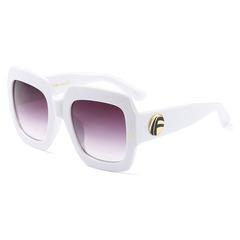 Ladies D Square Sunglasses For Women CONTRAST COLOR Celebrity Brand Designer white+grey one size