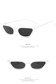 New Women Small Cat Eye Sunglasses 2018 Vintage Fashion Brand Designer Square Sun Glasses UV400 white one size