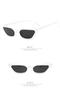 New Women Small Cat Eye Sunglasses 2018 Vintage Fashion Brand Designer Square Sun Glasses UV400 white one size